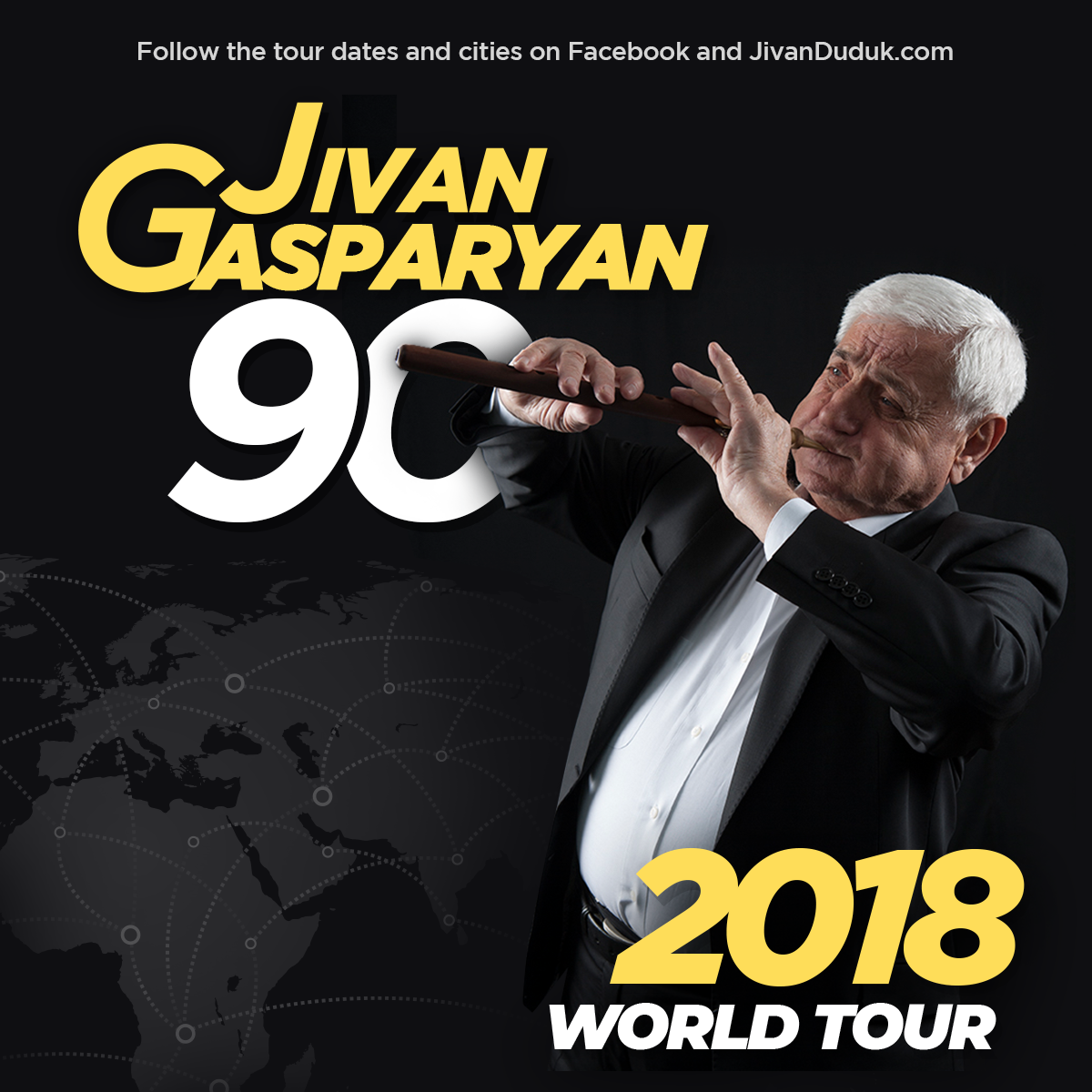 Djivan 90 World Tour Flyer 2